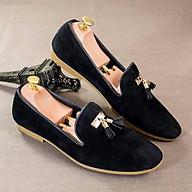 Giày Lười Da Nhung Phối Chuông thumbnail