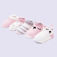 Set 5 Đôi Tất Cho Bé Sơ Sinh 0-9 Tháng, Họa Tiết Mèo Đáng Yêu thumbnail