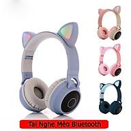 Tai Nghe Mèo Bluetooth, Headphone Tai Mèo Dễ Thương Có Mic,Âm Bass Mạnh Mẽ Và Dung Lượng Pin Khủng 400mAh thumbnail