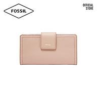 Ví cầm tay nữ khoá tab thời trang Fossil RFID Logan Tab SL7830656 - màu hồng phấn thumbnail