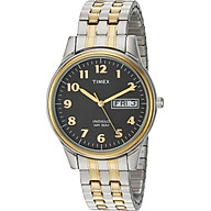 Timex Men s T2N093 Charles Street Two-Tone Extra-Long Stainless Steel Expansion Band Watch thumbnail