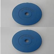 Bộ Tạ Đĩa Bọc Nhựa Intervic 14KG ( 7kg tạ) - Màu Xanh Dương thumbnail