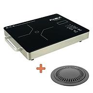 [Bếp Không kén Nồi]Bếp Hồng Ngoại 2000W, khung tay cầm inox, phím cảm ứng, mặt kính cường lực-Hàng chính hãng thumbnail