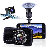 Camera hành trình ô tô Ontek T004 Full HD 1080P - Màn hình 4 inch, Hỗ trợ 8 LED ( Gồm Cam trước & Cam sau ) - Hàng nhập khẩu thumbnail