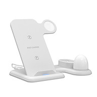 X356 Detachable 4-in-1 Wireless Charger Replacement for iPhone Samsung Galaxy iWatch Airpods Wireless Charging Base Qi thumbnail