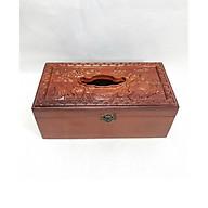 Hộp đựng giấy gỗ hương di lặc kéo bao tiền TM12116 thumbnail