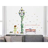 decal dán tường bé cột đèn xanh sk9209 thumbnail