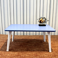 Double computer table bed with foldable laptop table elephant legs high cold blue thumbnail