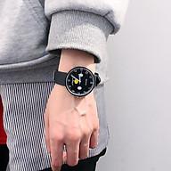 Đồng hồ thời trang nam nữ Huans Hmc1. hình mặt cười dây silicon. thumbnail