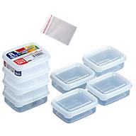 Bộ 8 hộp trữ đông đồ ăn dặm nắp dẻo mini 100ml tặng 2 túi zipper 12cm thumbnail