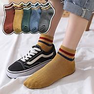 Bộ 5 tất cổ ngắn cho nữ đi giày thể thao phong cách basic WM10 thumbnail