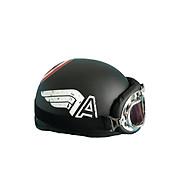 Mũ bảo hiểm nửa đầu SRT tem Captain america kèm kính chống bụi UV400 Kính phi công - Nón 1 2 đầu tem thời trang thumbnail