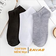 Vớ cổ ngắn nam ZAVAS Cotton thấm hút mồ hôi khử mùi kháng khuẩn dưới mắt cá chân Combo 3 đôi thumbnail