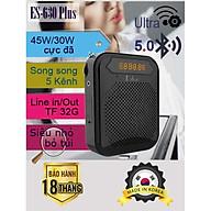 Loa trợ giảng Hàn Quốc ESFOR ES-630 Plus 45W, Bluetooth 5.0, Line Out, 3 Mic song song 5 kênh - HÀNG CHÍNH HÃNG thumbnail