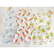 Combo 3 Bộ Ba Lỗ Cotton giấy Thoáng mát Họa Tiết Ngẫu Nhiên Cho Bé thumbnail