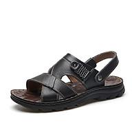 Giày sandal nam dép quai hậu nam công sở da thật mã 692.LK thumbnail