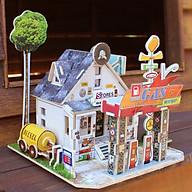 Đồ chơi lắp ráp gỗ 3D Mô hình Trạm Xăng F137 thumbnail