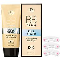 Kem nền BB Cream kiềm dầu, lâu trôi ISK FULL COVER BB CREAM SPF 50+ PA+++ Hàn quốc 45ml Hộp TẶNG 1 KHUÔN MÀY thumbnail