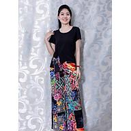 Set Bộ Nữ Tính Kiểu Set Áo Phối Họa Tiết Cột Eo Quần Ống Rộng In Hoa GOTI 3128 thumbnail