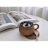 Bộ ly cốc cà phê gỗ keo chống thấm nước thumbnail