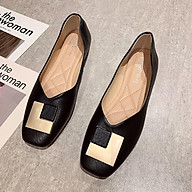 A003 Giày sandal đế thấp mũi vuông phong cách thời trang thanh lịch cho nữ thumbnail