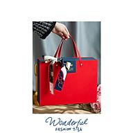 Hộp đựng quà Tết kiểu túi xách, hộp đựng quà Valentine phong cách thời trang thumbnail