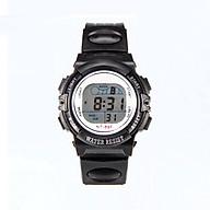 Đồng hồ điện tử trẻ em Rsp1,mặt tròn dây nhựa,hiển thị giờ,ngày tháng và đèn. thumbnail