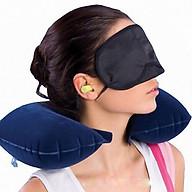Bộ gối hơi, bịt mắt, bịt tai giúp bạn ngủ ngon hơn trong mọi hoàn cảnh - giao màu ngẫu nhiên thumbnail