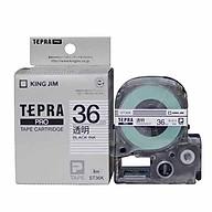 Băng mực in nhãn Tepra cỡ 36mm dùng cho máy KING JIM TEPRA PRO SR970 SR5900P - HÀNG CHÍNH HÃNG thumbnail