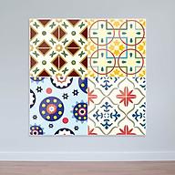 Decal gạch bông hoa văn cổ điển - Decal dán tường nhà bếp WD163 thumbnail