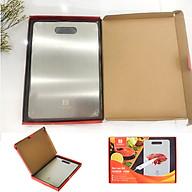 Thớt inox kháng khuẩn cao cấp - inox SuS 304 FC - size 23x33,5cm - dày 2,04mm thumbnail