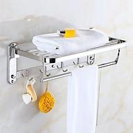 Kệ treo khăn tắm Inox 304 đa chức năng gấp gọn dán keo thumbnail