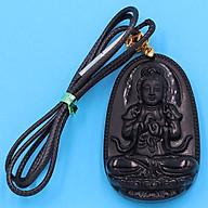 Dây chuyền Phật Như Lai Đại Nhật - thạch anh đen 5cm DETEN5 - phật bản mệnh tuổi Mùi, Thân thumbnail