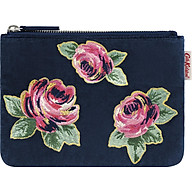 Ví Cath Kidston họa tiết Solid (Velvet Pouch with Embroidered Roses) thumbnail
