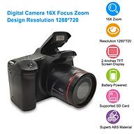 Máy ảnh kĩ thuật số chuyên nghiệp zoom lấy nét 16x độ phân giải 1280x720 hỗ trợ khe cắm thẻ nhớ và 4 pin AA thumbnail