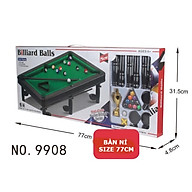 Bàn bi-a lót nỉ size Lớn giải trí ( Bàn Bida lỗ Mini trò chơi giải trí tại nhà cho cả gia đình đủ phụ kiện ) trò chơi vui nhộn thumbnail