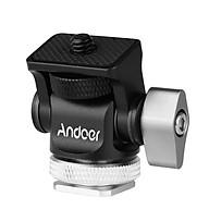 Andoer Mini Monitor Mount Tripod Head Cold Shoe Adapter Aluminum Alloy 1 4 Inch Screw for Mounting Camera Monitor Flash thumbnail