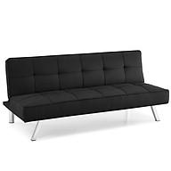 Sofa Bed Vải Bố Mịn Màu Đen Sạch Sẽ_Dài 168cm_Chân Đỡ Bằng Kim Loại Mạ Crom thumbnail
