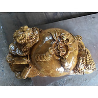 Tượng Thiềm thừ - Cóc phong thủy - gỗ Nu Nghiến dài 56cm thumbnail