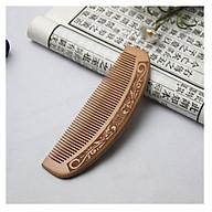 Lược gỗ đào tự nhiên kiểu dáng cong, chạm khắc rồng phượng, chạm khắc phú quý, bình an, ngũ phúc, hoa văn chống tĩnh điện LGC03D thumbnail