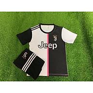 Bộ Đồ Đá Banh Trẻ Em Clb Juventus Trắng Đen 2019 thumbnail