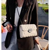Túi đeo chéo nữ 3 ngăn Túi xách nữ dễ thương trần trám khóa nhọn thời trang HY00463 thumbnail