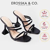 Dép cao gót thời trang Erosska kiểu dáng xo ngo n mũi vuông đê nho n hi nh no n thiê t kê phô i dây tre trung cao 9cm EM062 thumbnail