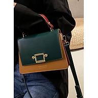 Túi xách tay đeo chéo nữ thời trang T58 phối 2 màu size 22x17x9cm dây đeo chéo da phụ kiện thời trang thumbnail