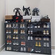 5 Hộp đựng giày nhựa cứng cửa mở nam châm, trọng lượng 1000gram, tháo lắp dễ dàng kích thước 26 20,5 35,5cm thumbnail