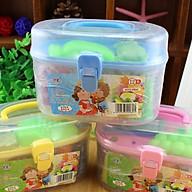 Hộp đồ chơi đất sét 12 màu có khuôn cho bé thumbnail