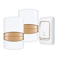 Chuông cửa đôi không dây chống nước K06-2 (1 NÚT NHẤN, 02 CHUÔNG BÁO) - Tặng kèm 01 quạt mini cắm cổng USB vỏ thép thumbnail