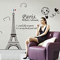 Decal dán tường Tháp Paris - HP381 thumbnail