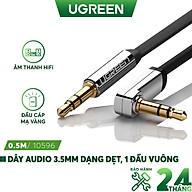 Dây Audio 3.5mm dẹt, mạ vàng 1 đầu vuông 90 độ UGREEN AV119 - Hàng chính hãng thumbnail