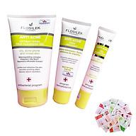 Floslek Anti Acne - Bộ 3 sửa rửa mặt Bacterial Face Cleansing Gel 125ml + kem kiềm dầu Mattifying Cream 50ml + Gel giảm mụn 20ml + Tặng ngay 3 mặt nạ Dermal bất kỳ thumbnail
